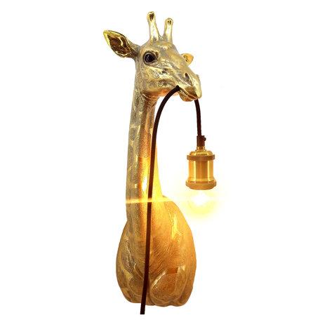 Wandlamp Giraffe - Goud