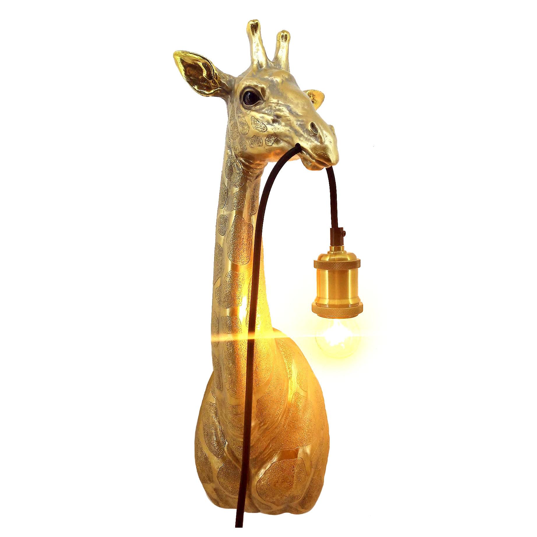 Golden Giraffe Lamp Giraffe Hanging Lamp Gold Livv Lifestyle