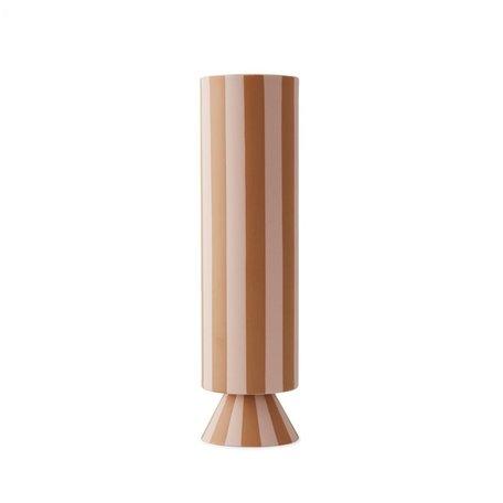 Toppu vase high - Pink / Caramel