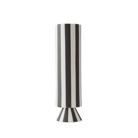 Toppu vase high - Black / White