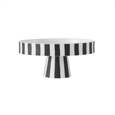 Toppu tray - Black / White - Ø 20 cm