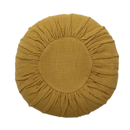 Round cushion - Ochre - Ø 45 cm