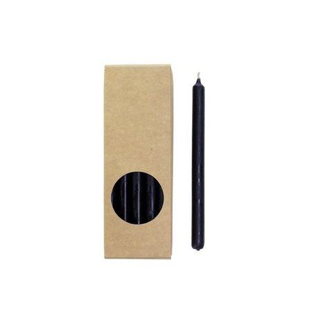Long pencil candles - Zwart