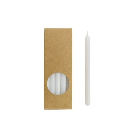 Long pencil candles - White