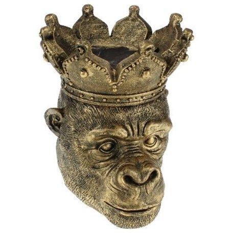 Bloempot aap Kong - Goud