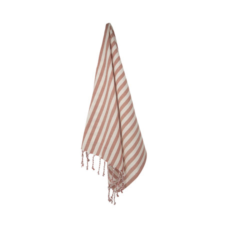Tea towel stripes - Rose