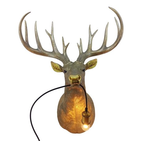 Deer lamp - XL - Gold