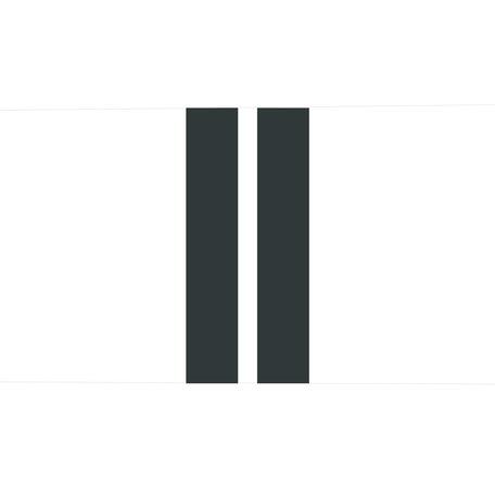 Outdoor sierkussen / Wit - 2 Zwarte strepen - 60 cm x 40 cm