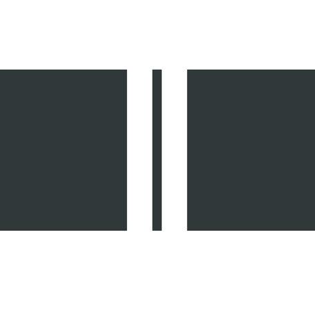 Outdoor cushion / Black - 2 white stripes - 40 cm x 60 cm