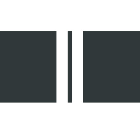 Tuinkussen / Zwart - 2 witte strepen - 60 cm x 40 cm