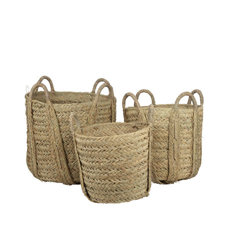Essaouira seagrass baskets - Set of 3 pieces