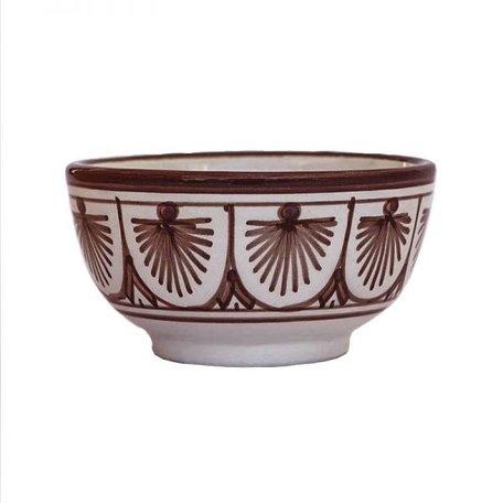 Bowl - Fan   / Brown - Ø 10 cm