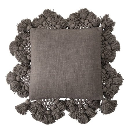 Dark brown cushion - Frills