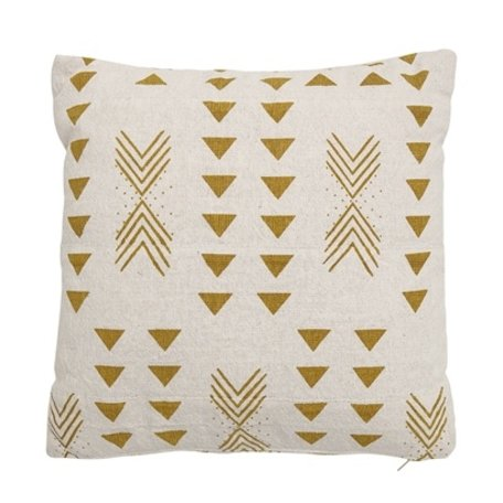 Tribal cushion - Mustard print