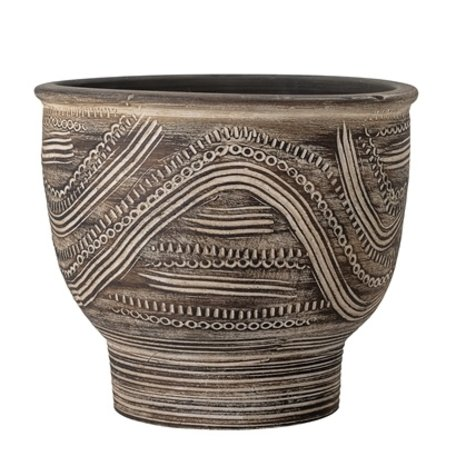 Deco  flowerpot - Brown