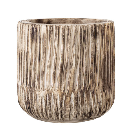 Decorative flowerpot - Paulownia wood