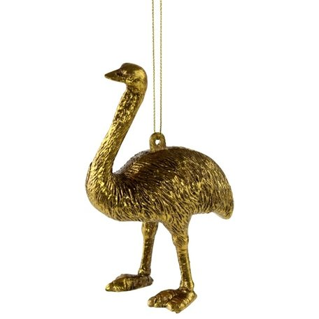 Christmas ornament - Ostrich - Gold