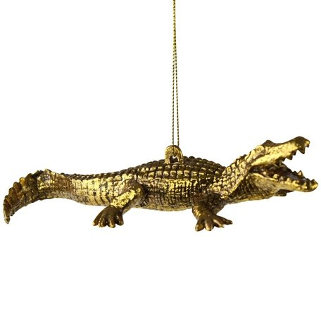 Christmas ornament - Crocodile - Gold