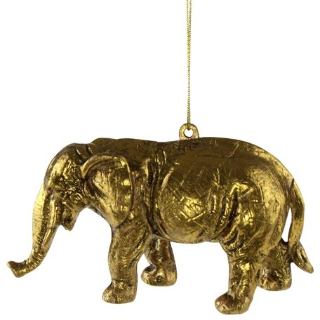 Christmas ornament - Elephant - Gold