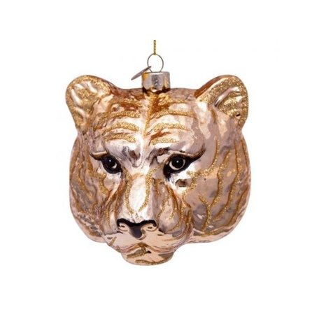 Christmas ornament - Tiger head - Gold