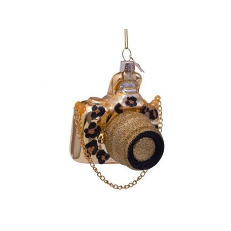 Kerst ornament - Camera goud - Panterprint