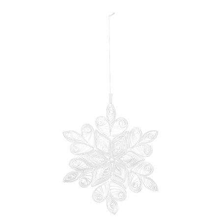 Christmas ornament - white - Paper - Ø 18 cm