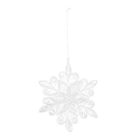 Kerst ornament - wit  - Papier - Ø 18 cm