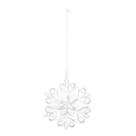 Christmas ornament - white - Paper - Ø 10 cm