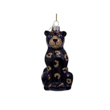 Kerst ornament - Zwarte panter - Glitter