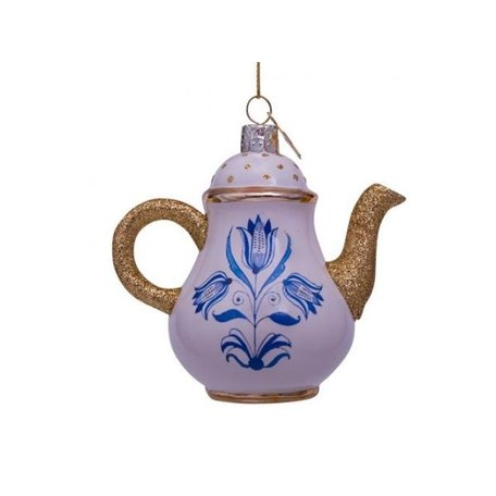 Kerst ornament - Theepot - Delfts blauw