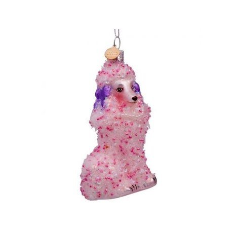 Christmas ornament - Poodle - Pink