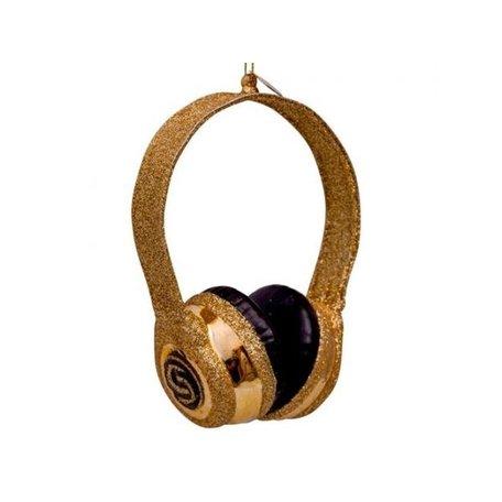 Kerstbal - Headset - Goud - Glitter