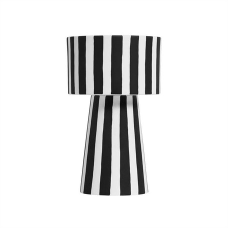 Toppu pot - Black / White - Large