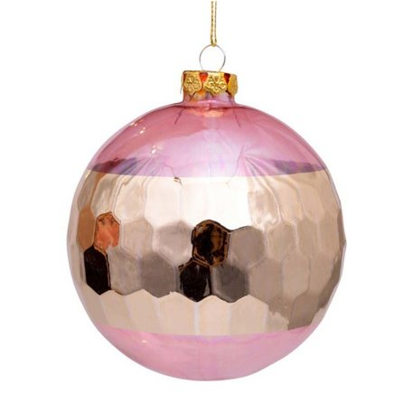 Kerstbal - Honeycub - Roze