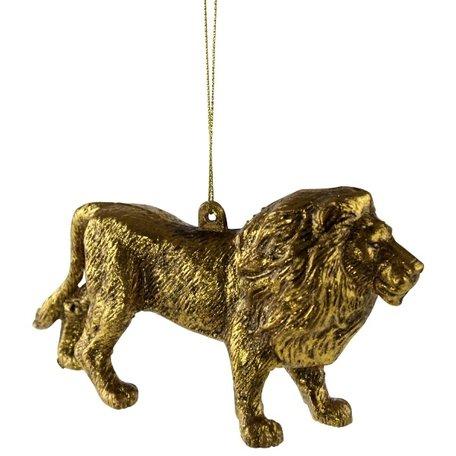 Kersthanger - Leeuw - Goud