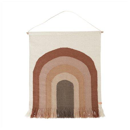 Rainbow wall rug - Choco brown