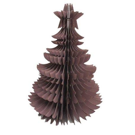 Kerstboom met ring - Papier - Lila