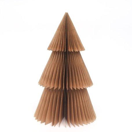 Papieren kerstboom - Puntig - Goud