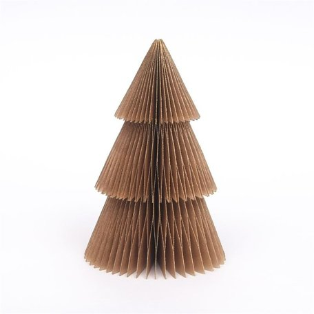 Paper Christmas tree  - Gold