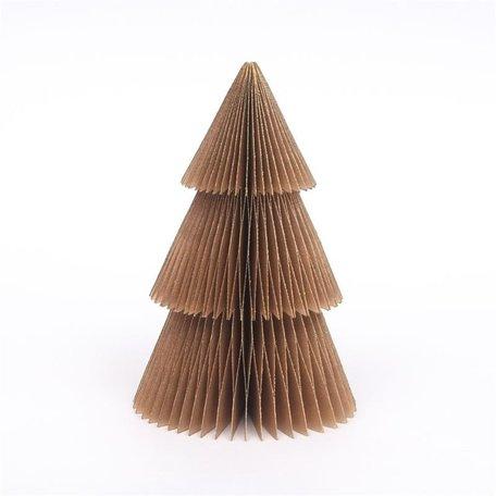 Papieren kerstboom  - Goud