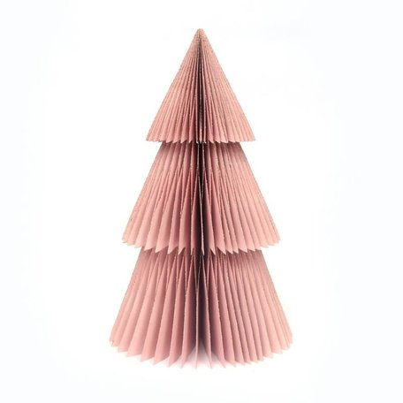 Papieren kerstboom - Puntig - Roze