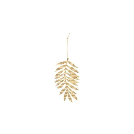 Ornament leaf - Antique gold
