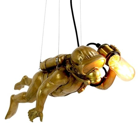 Ceiling lamp monkey - Diver Dave - Gold