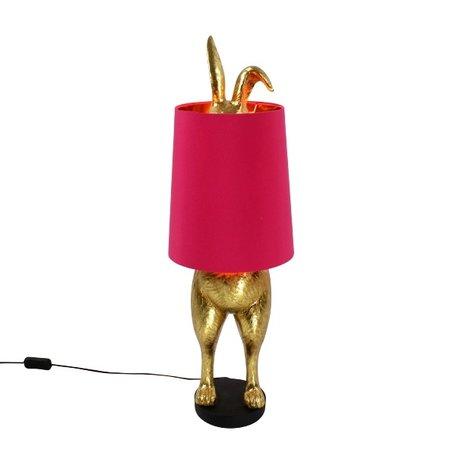 Tafellamp hiding Bunny - Roze kap