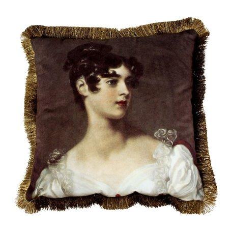 Fluwelen sierkussen franjes -La Duchesse