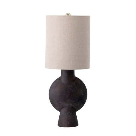 Table lamp Sergio - Black / Brown - Stoneware
