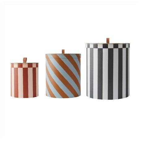 Storage boxes - Striped - Set of 3