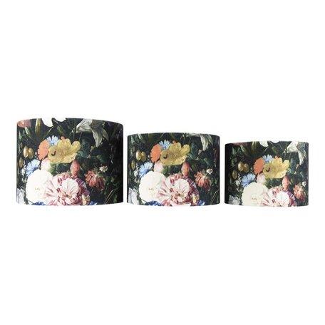 Fluwelen lampenkap rozen - Ø 25 cm