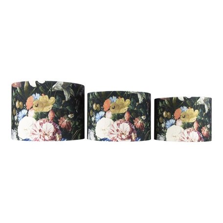 Fluwelen lampenkap rozen - Ø 30 cm