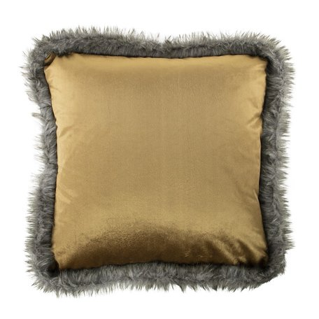 Velvet cushion - Fur - Copper